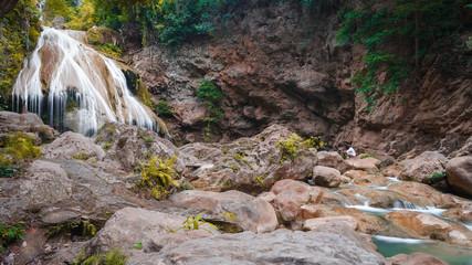 Beautiful Waterfall, Chiang Mai, Thailand