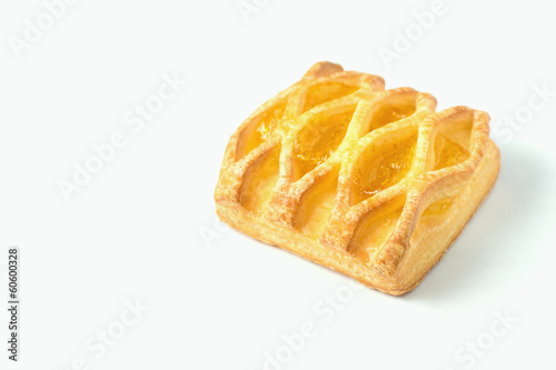 Pastry on the white background