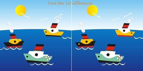 liners-find 10 differences