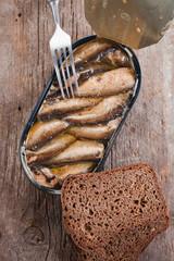 tinned fish in tin ware