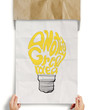 light bulb crumpled paper in another great idea words as creativ