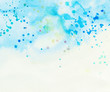 light blue cloud and sky with watercolor splashes