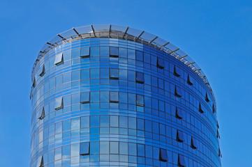 Modern building over blue sky