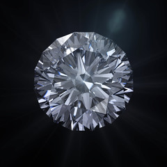 Forever round diamond with clipping path