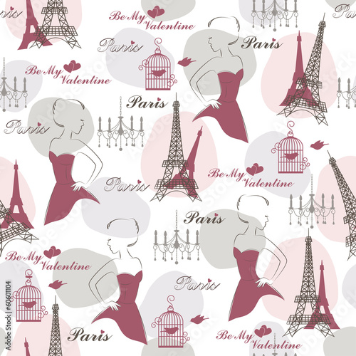 Stylish seamless pattern for holidays. Vector