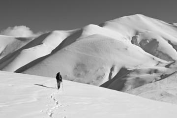 Trekking invernale sui Monti Sibillini