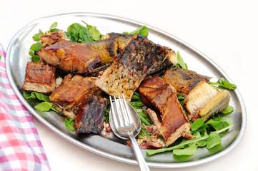 Smoked carp fillets, Montenegrin cuisine