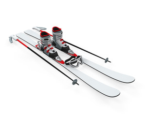 Ski Equipment Isolated