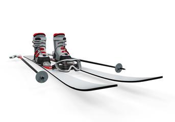 Ski Equipment Isolated