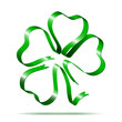 Four-leaf clover shape from ribbon