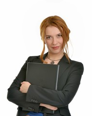 Business woman with file folder