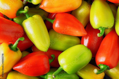 Fresh sweet peppers. Vegetable background