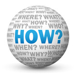 """HOW?"" Globe (questions explanations enquiries help support why)"