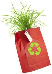 sac papier éco-emballage, écologie, environnement