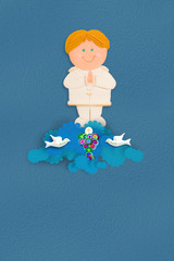 blond boy first communion reminder