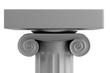 realistic 3d render of ionic column