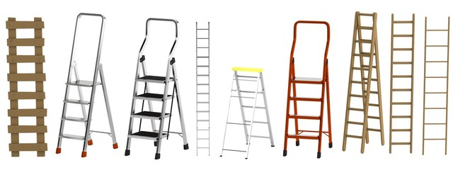 realistic 3d render of ladders