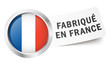 "Button mit Fahne "" FABRIQUÉ EN FRANCE """