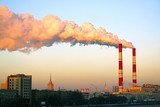 CHP pipe tower over Moscow