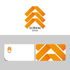 Orange abstract logo