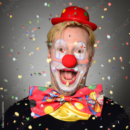 canvas print picture Clown
