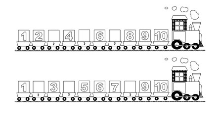 math train with missing numbers- vectors
