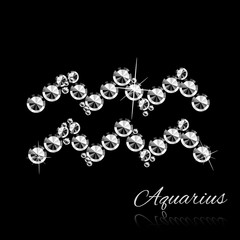 Zodiac sign made of gems. VECTOR illustration.