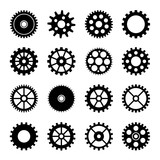 Gear wheel icons set 2