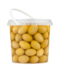 olive pail isolated