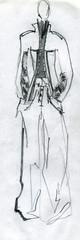 girl model, demonstrating cloth