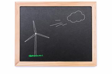 Tafel mit Windrad