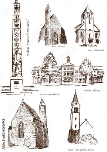 Stadtansichten Aachern Gebäude historisch Architektur