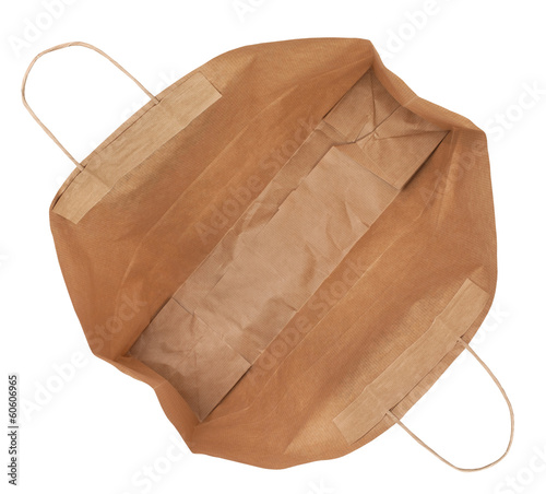 paper shopping bag isolated