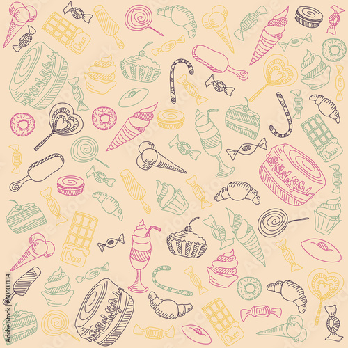 sweets on a light background