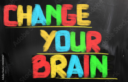 Change Your Brain Concept