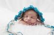 Newborn, Baby, liegt, schläft, Mütze,