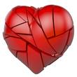 Rotes, gebrochenes Herz