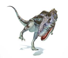Majungasaurus dinosaur, photorealistic representation. Dynamic v