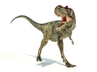 Albertosaurus Dinosaur, photorealistic representation, dynamic p