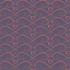 Romantic seamless background