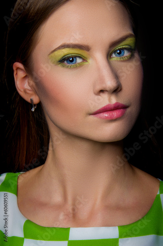 Fashion Beauty Girl. Gorgeous Woman Portrait. Make up