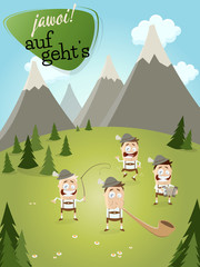 alpen bayern landschaft volksmusik