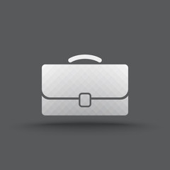 Vector of transparent business briefcase icon