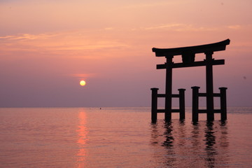 Shirahige Jinzya in Biwako,Japan