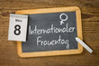 Leinwanddruck Bild - Am 8. März ist Internationler Frauentag