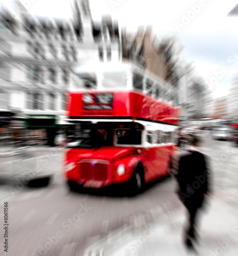 Deurstickers Londen rode bus london red bus