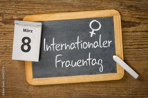 Leinwanddruck Bild Am 8. März ist Internationler Frauentag