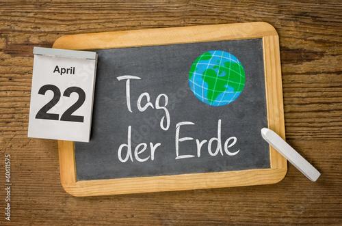 Leinwandbild Motiv Am 22. April ist Tag der Erde