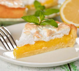 Pie with meringue