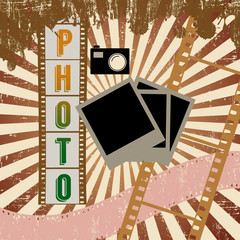 Retro photography poster